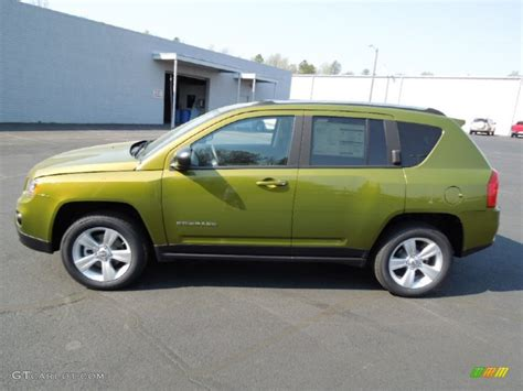 jeep rescue green rescue green metallic 2012 jeep compass sport 4x4 exterior