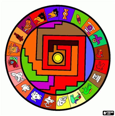 imagenes aztecas para imprimir calendario azte para colorear calendario azte para imprimir