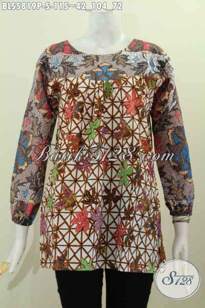 desain baju kerah online baju batik wanita lengan panjang hadir dengan desain