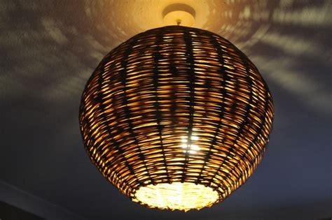 ceiling pendants woven onto frames wicker baskets