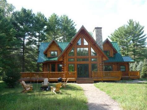 lakefront log home for sale waupaca wi chain o lakes