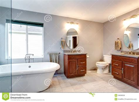 home interior bathroom mirror and sink stock photo image beautiful grey new luxury modern bathroom interior stock
