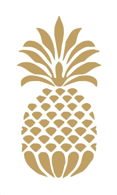 pineapple template pineapple reusable stencil 8 sizes available create