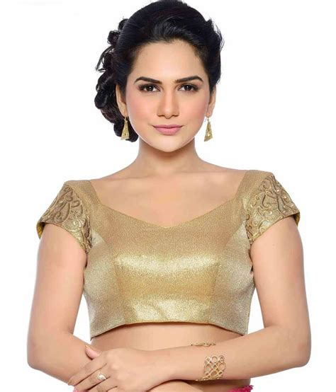 Jedar Blouse 2 N1 studio shringaar golden shimmer padded blouse with