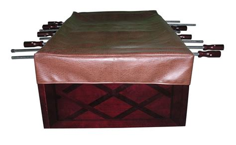 Foosball Table Cover by Foosball Table Cover In Brown For All Foosball Tables