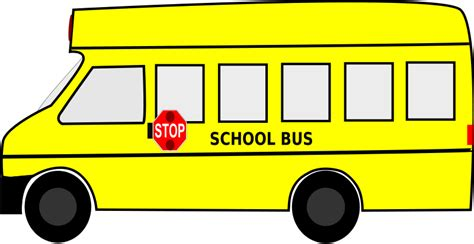 free to use public domain school bus clip art