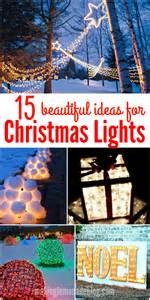 how to make outdoor christmas decorations lights