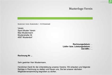 Muster Rechnung Verein Musterrechnung Verein Gratis Downloaden Everbill Magazin