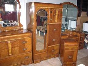 1940s bedroom furniture art deco bedroom set 1930s 1940s waterfall furniture