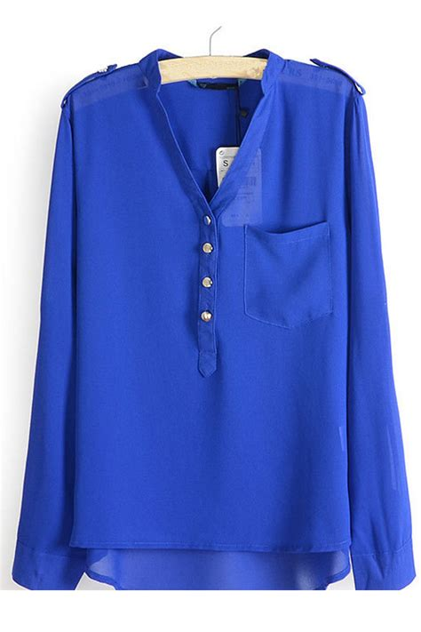 Blouse Navy kettymore american style small collar shirt blouse navy blue kettymore