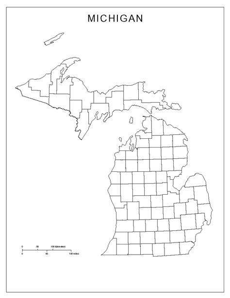 michigan counties map michigan blank map