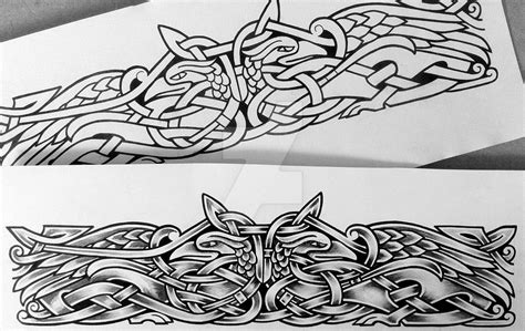 viking armband tattoo designs two ravens armband by design deviantart on
