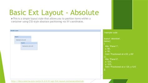 html layout absolute sencha extjs learning part 1 layout and container in