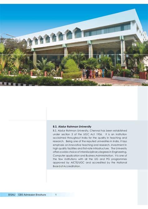 Um Mba Application by Mba Admission B S Abdur Rahman