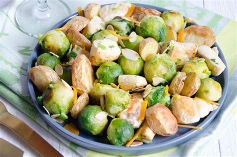 cuisiner des choux de bruxelle po 234 l 233 e de choux de bruxelles au poulet