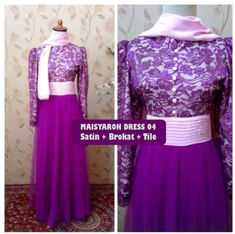 Set Gaun Dan Pasmina gracie dress galeri ayesha jual baju pesta modern syar