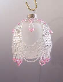 free beaded ornament cover patterns netting as a beaded