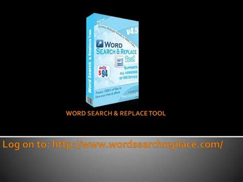 replace tool ppt how can i use word find and replace tool powerpoint