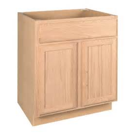 24 in d unfinished brown oak door and drawer base cabinet at lowes com