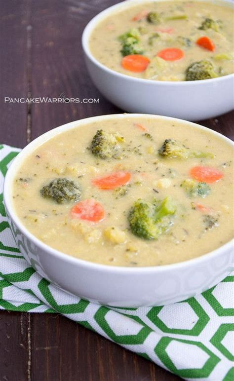 vitamix broccoli cheese soup recipe vegan broccoli cheese soup sundaysupper recipe