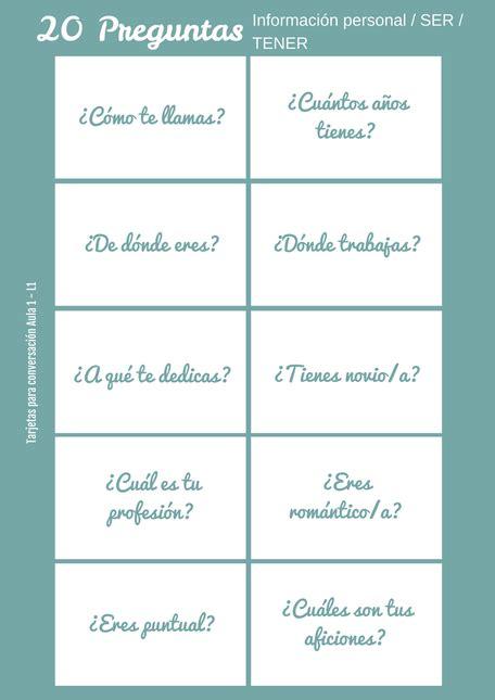 preguntas para hacerse en parejas aula 1 lecci 243 n 1 clase de ele material para la clase