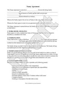 Babysitting Contract Template by Nanny Contract Rocket Lawyer Nannying