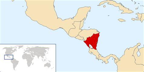 nicaragua location on world map nicaragua location map location map of nicaragua