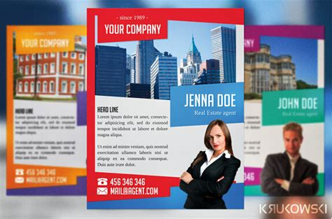 customizable design templates for real estate flyer template