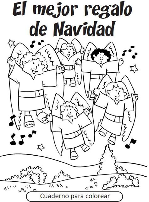 christmas coloring pages in spanish my little house a christmas gift