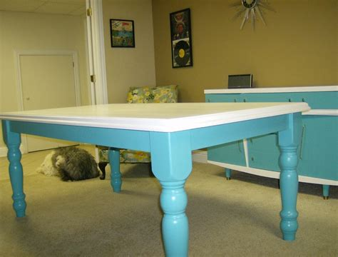 Painting Kitchen Table Kitchen Table Painted Turquoise And White Upcycled Gems By Me Kitchen Tables