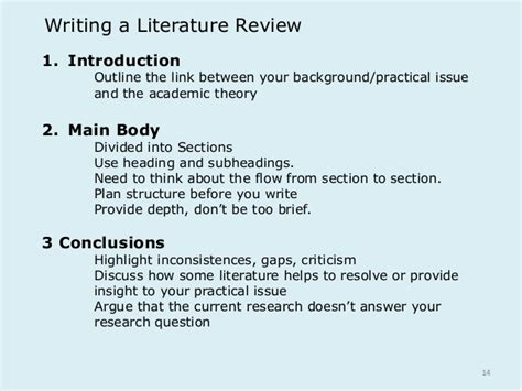 literary section generic lecture 3 literature review tutor
