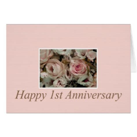 happy 1st anniversary cards zazzle