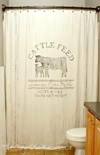 the cozy old quot farmhouse quot painter s dropcloth becomes diy grain sack shower curtain