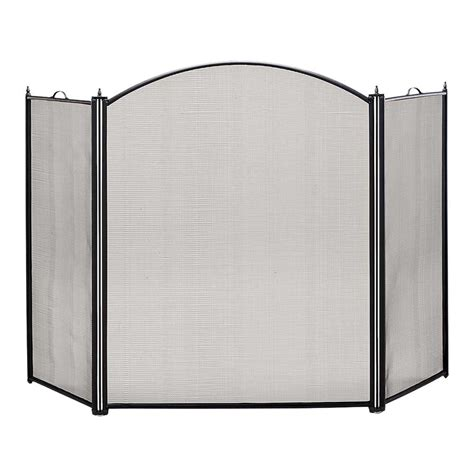 Tri Fold Fireplace Screen by Pictured Here Is The Black Tri Folding Fireplace Screen