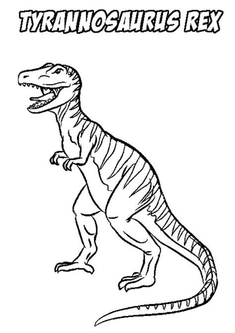 Cartoon T Rex Coloring Page | cartoon t rex coloring pages