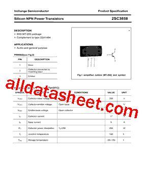 transistor company 2sc3858 datasheet pdf inchange semiconductor company limited