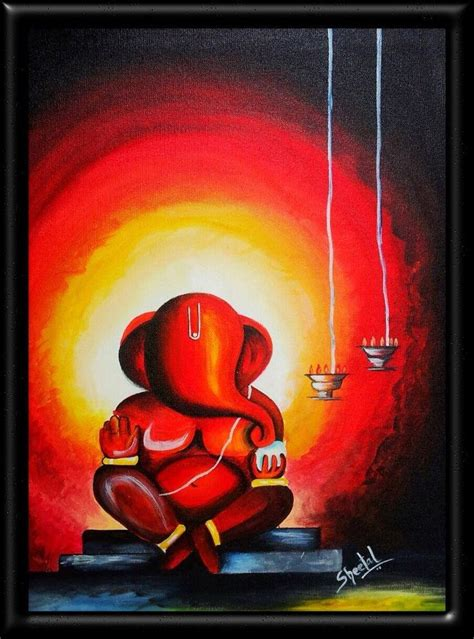easy modern paintings 25 unique ganesha painting ideas on lord