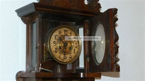 Regulator Uhr by Gr 252 Nderzeit Wanduhr Antik Holz Pendeluhr Regulator Uhr Ca