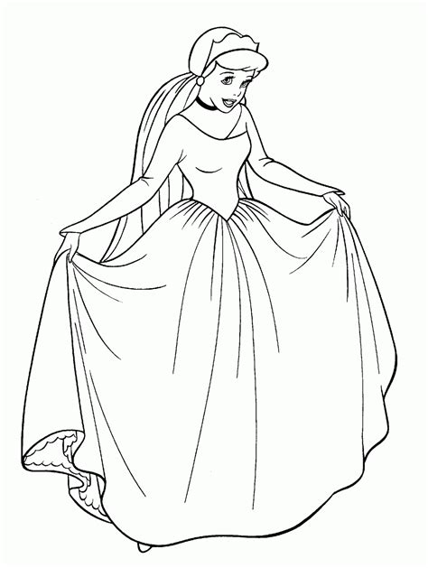 gambar mewarnai cinderella putri cantik walt disney gambar mewarnai lucu