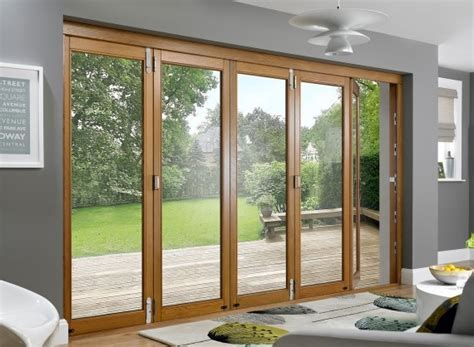 Prestige 12ft Solid Oak Folding Sliding Doors Vufold Solid Oak Patio Doors