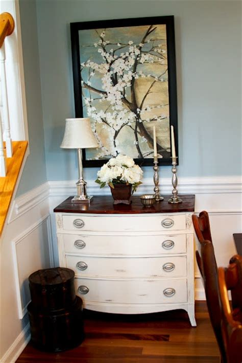 White Dresser With Stained Top by White Dresser Stained Top Diy Painted Furniture