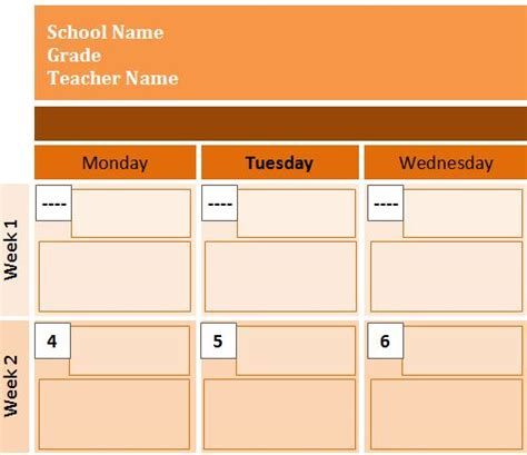 best photos of events schedule template microsoft word