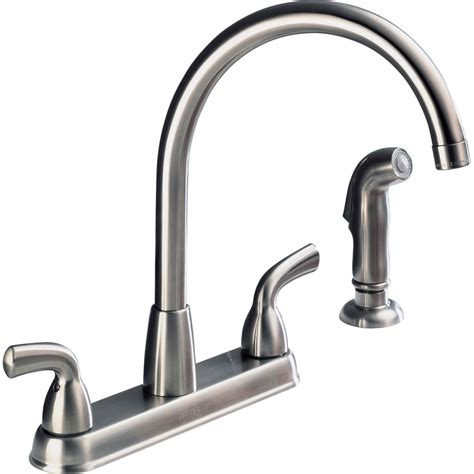 fixing leaky kitchen faucet 2 handle kitchen faucet leaking at base wow