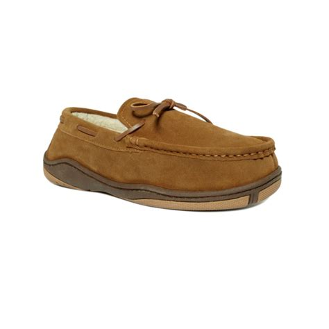 rockport slippers rockport faux shearling lined moccasins in brown for