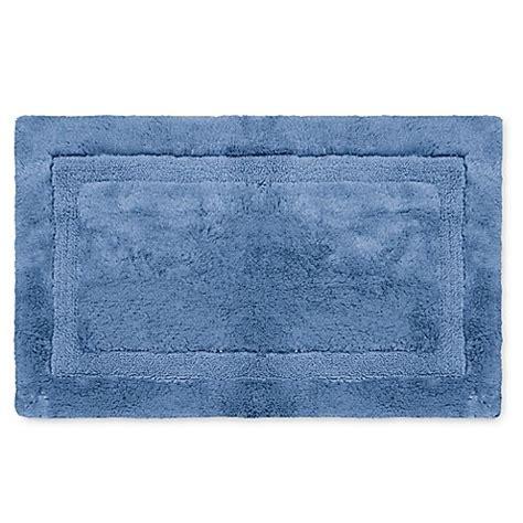wamsutta bath rug buy wamsutta 174 luxury 24 inch x 40 inch border plush microcotton bath rug in twilight from bed