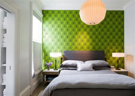 green walls in bedroom 15 bedroom wallpaper ideas styles patterns and colors