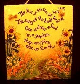 garden poems on slate