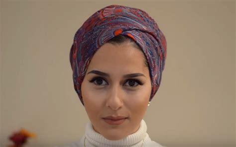 tutorial membuat turban simak tutorial turban untuk bepergian ala blogger hijab