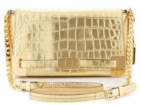 Clutch Croco Gold 1000 ideas about michael kors purses on