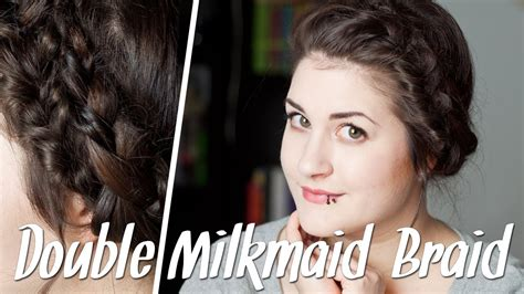 frisuren fuer duenne haare double milkmaid braid